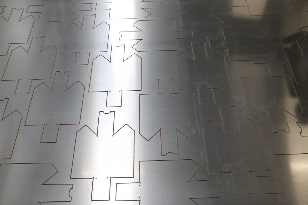 gefreesde aluminium plaat
