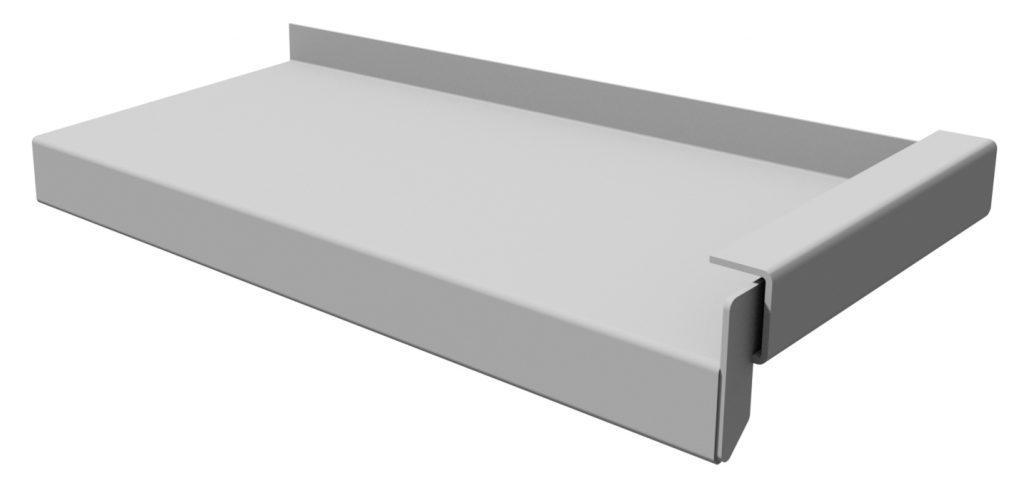 aluminium waterslag lekdorpel met U-profiel
