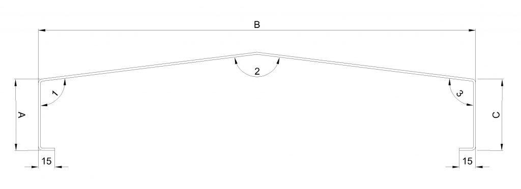 Raintec muurafdekker zadeldak model