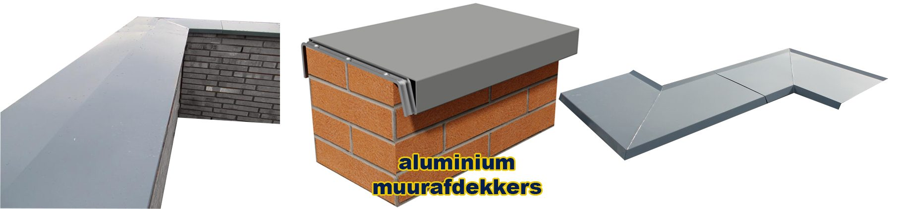 Aluminium muurafdekker