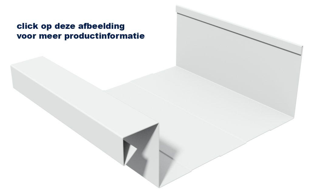 aluminium bakgoot B205 met link naar productpagina