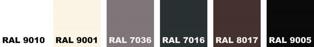 kleuren dakgoten R6 en R8