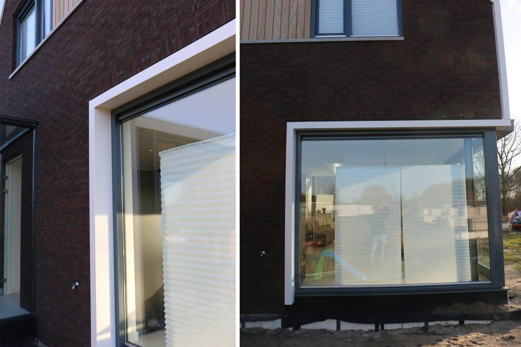 Raintec woning Rittenburg aluminium kader pui achterzijde