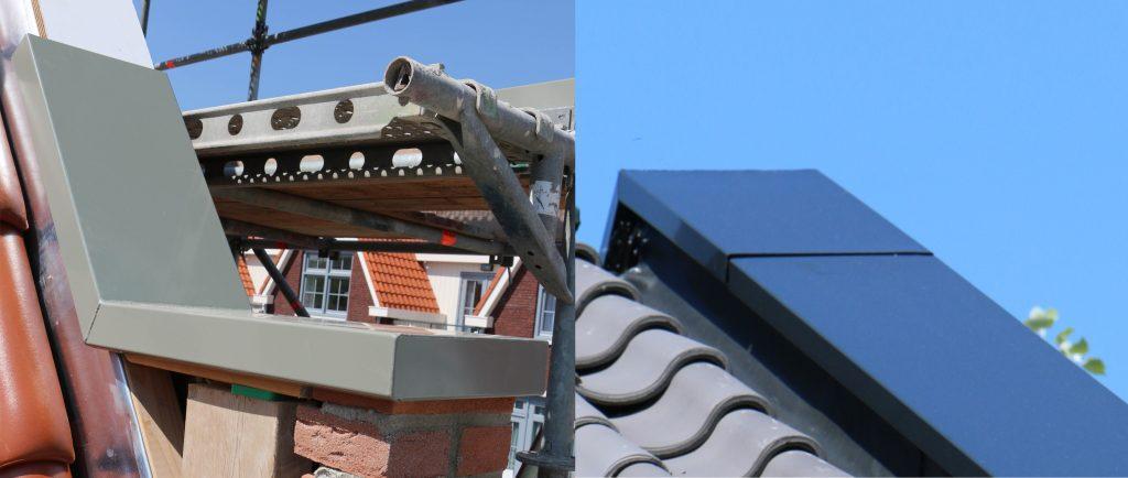 dalstuk en nokstuk voor aluminium muurafdekkers