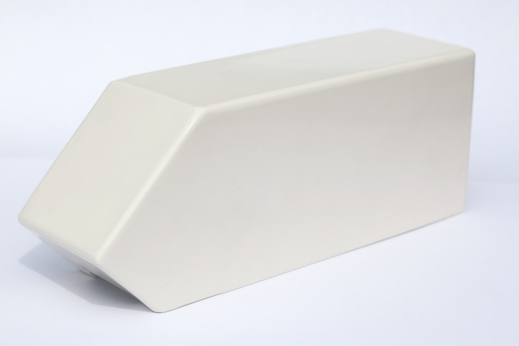 aluminium dakgootklos gepoedercoated