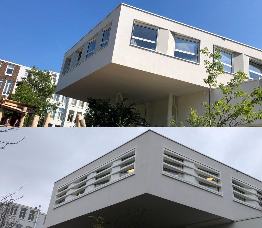 Boekmanschool aluminium raamkader