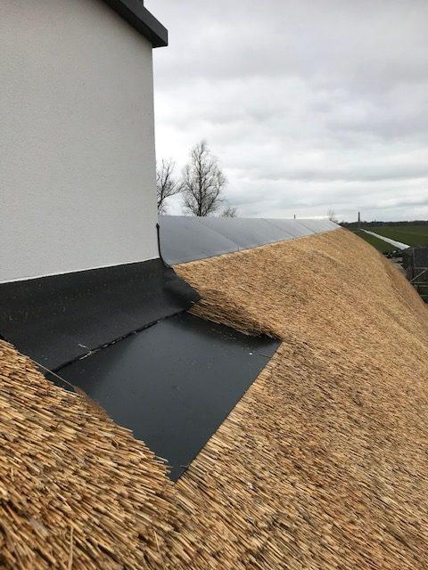 vlakke plaat rieten dak